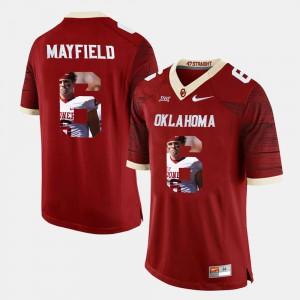 Men's Player Pictorial Baker Mayfield OU Jersey Crimson #6 867842-889