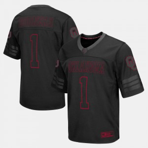 For Men College Football #1 Black OU Jersey 115173-484