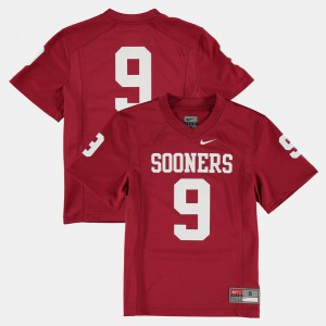 #9 Youth(Kids) OU Jersey College Football Crimson 434560-717