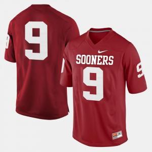 Mens Crimson College Football OU Jersey #9 389746-600