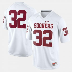 OU Jersey Youth(Kids) College Football #32 White 296772-146