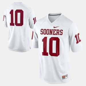 OU Jersey Mens College Football #10 White 582808-692