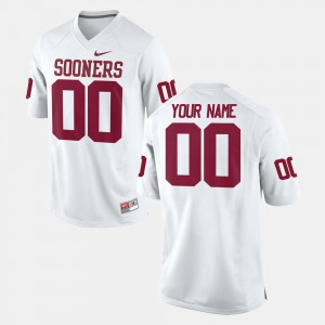 College Football White #00 For Men OU Custom Jerseys 567459-377