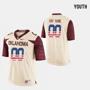 US Flag Fashion #00 OU Customized Jerseys Youth Crimson 401568-518