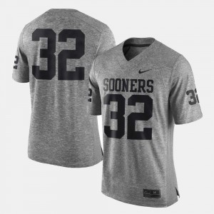Gridiron Limited For Men Gridiron Gray Limited #32 OU Jersey Gray 501926-130