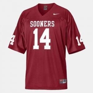 #14 College Football Sam Bradford OU Jersey Kids Red 952335-929