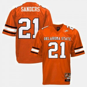 College Football #21 Orange Youth Barry Sanders Oklahoma State Jersey 712452-282