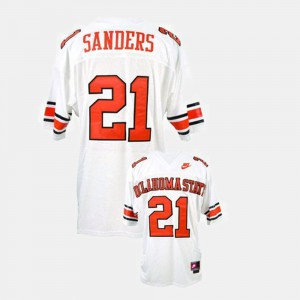 College Football Barry Sanders Oklahoma State Jersey #21 For Men White 154030-384