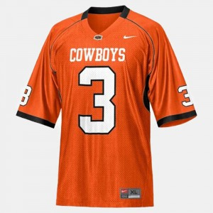 College Football #3 Kids Brandon Weeden Oklahoma State Jersey Orange 892175-891