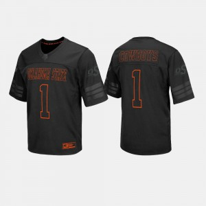 Black College Football For Men #1 Oklahoma State Jersey 645016-635