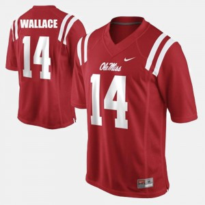 College Football For Men #14 Red Bo Wallace Ole Miss Jersey 869307-303