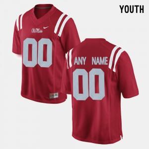 #00 Red College Limited Football Kids Ole Miss Custom Jerseys 740648-597