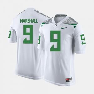 Men's Byron Marshall Oregon Jersey White #9 College Football 114352-556
