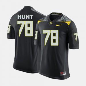 #78 Black Cameron Hunt Oregon Jersey College Football For Men 748282-456