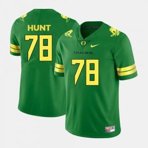 Green Cameron Hunt Oregon Jersey Men College Football #78 607971-968