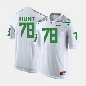 College Football #78 Cameron Hunt Oregon Jersey For Men White 304104-664