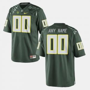 College Limited Football Green Men's #00 Oregon Custom Jerseys 224191-426