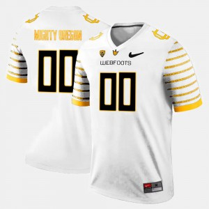 White College Limited Football #00 Oregon Customized Jerseys For Men 985395-673