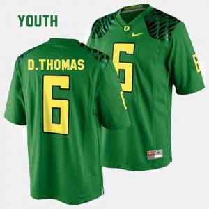 Kids Green #6 College Football De'Anthony Thomas Oregon Jersey 153953-741