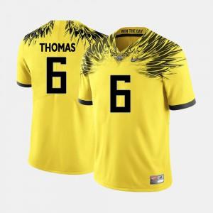 De'Anthony Thomas Oregon Jersey Yellow Mens College Football #6 360582-425