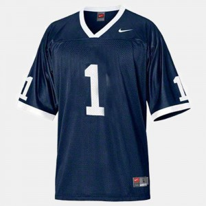 For Men Blue College Football #1 Penn State Jersey 174194-346