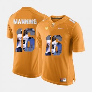 #16 Orange Pictorial Fashion For Men's Peyton Manning UT Jersey 453428-494