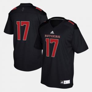 Black 2017 Special Games #17 Rutgers Jersey For Men 665630-323