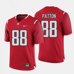 Red College Football For Men's Andre Patton Rutgers Jersey #88 617503-876
