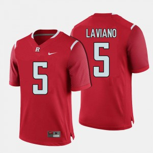 College Football Chris Laviano Rutgers Jersey #5 For Men's Red 239179-222