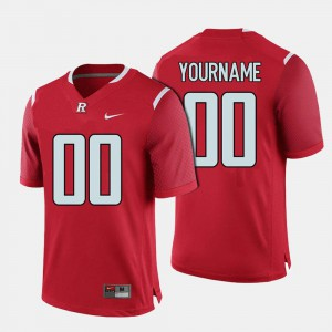 Red For Men's College Football Rutgers Customized Jersey #00 981271-645