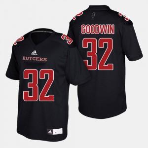 Black Justin Goodwin Rutgers Jersey College Football #32 Men's 410366-701