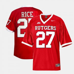 Red Kids #27 College Football Ray Rice Rutgers Jersey 294165-133