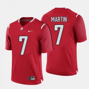 Robert Martin Rutgers Jersey Men Red College Football #7 692604-614