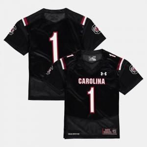 #1 College Football Black South Carolina Jersey Kids 163744-755