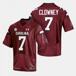 College Football For Men's Cardinal #7 South Carolina Jersey 314325-210