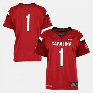 South Carolina Jersey Garnet College Football #1 For Women 184466-771