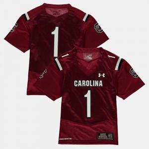 College Football Garnet Kids #1 South Carolina Jersey 723253-753