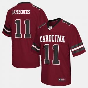 Men's South Carolina Jersey #11 Garnet College Football 873551-585