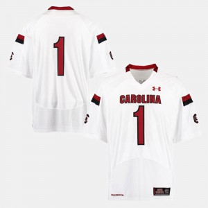 Men's #1 South Carolina Jersey College Football White 631382-722
