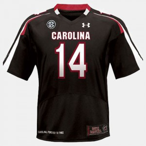 Connor Shaw South Carolina Jersey College Football For Kids Black #14 191415-445