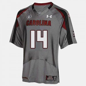 Gray #14 For Men's College Football Connor Shaw South Carolina Jersey 101142-551