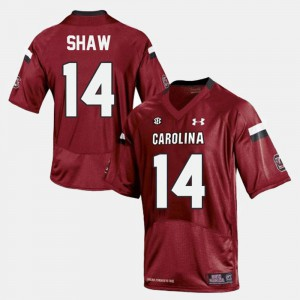 #14 College Football For Men Red Connor Shaw South Carolina Jersey 454655-839