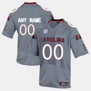 Grey South Carolina Customized Jersey For Men College Limited Football #00 474646-169