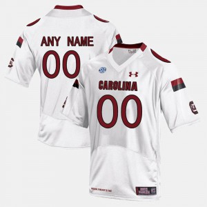 #00 White South Carolina Customized Jersey College Limited Football Men's 477699-985