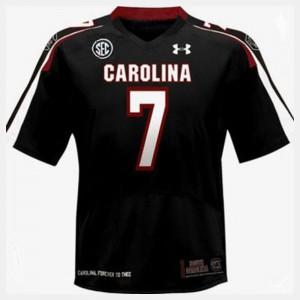 College Football #7 Black Kids Jadeveon Clowney South Carolina Jersey 266944-542