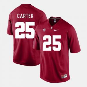 #25 Men Cardinal College Football Alex Carter Stanford Jersey 462823-748
