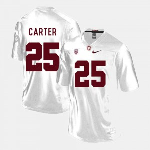 #25 Alex Carter Stanford Jersey White Men's College Football 429734-942