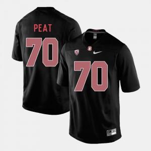 Black Men #70 College Football Andrus Peat Stanford Jersey 736057-683