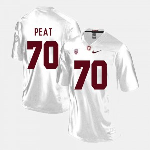 Andrus Peat Stanford Jersey #70 Men White College Football 861110-910
