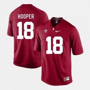 College Football Mens #18 Austin Hooper Stanford Jersey Cardinal 362144-813